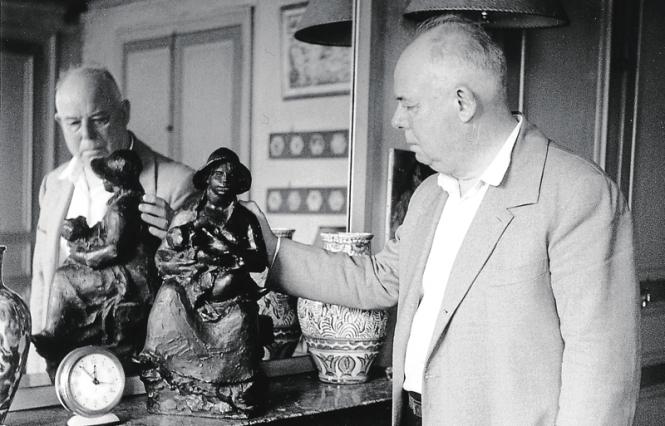 Jean Renoir vers 1954-55. René Saint-PaulBridgeman images